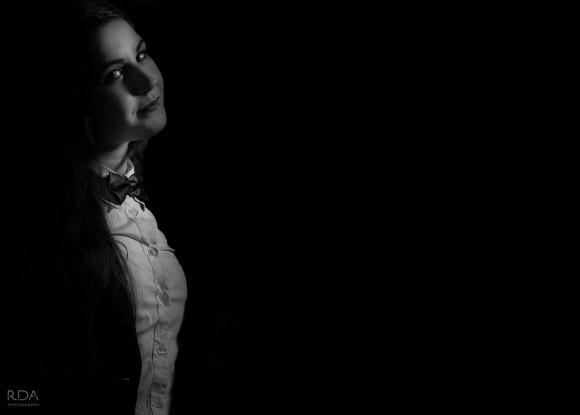black and white model shoot