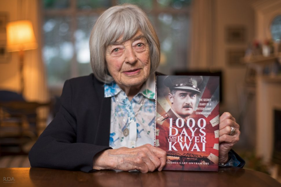 Pat and Jean - Daughters of Colonel Owttram, wrote the Postscript for WWII book 1000 Days on the River Kwai