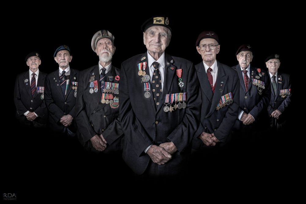 A TIME TO FIGHT - veteran group photograph